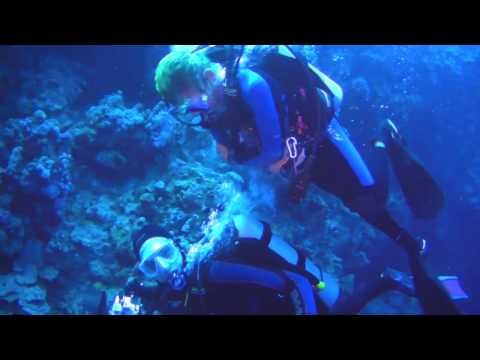 Scuba diving in Dahab, Egypt
