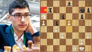 e Captures What??? || Firouzja vs Dubov || FIDE World Cup (2019)