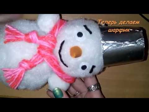 Снеговик из синтепона. МК