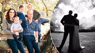 Gambar cover Kate & Wills release a family photo for their greeting card as Harry & Meghan share spectacular snap