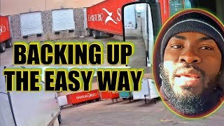 How To Back up Tractor-Trailer The Easy Way Training. Vlog #63