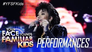 Your Face Sounds Familiar Kids: Elha Nympha as Sharon Cuneta - Bituing Walang Ningning