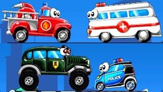 Xe Cứu Hỏa, Cứu Thương, Xe Cảnh Sát - Car Toys | TopKidsGames (TKG) 298