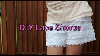 D.I.Y. Easy Lace Shorts!!