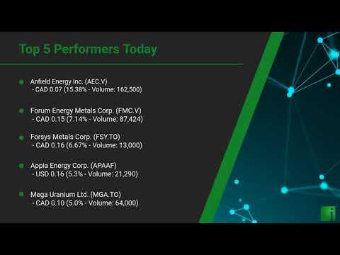 InvestorChannel's Uranium Watchlist Update for Thursday, A ... Thumbnail