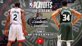 NBA Eastern Conference Finals:  Milwaukee Bucks vs. Toronto Raptors (Game 4)