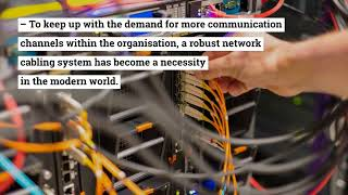 Why is Network Cabling Installation Necessary for Organizations?