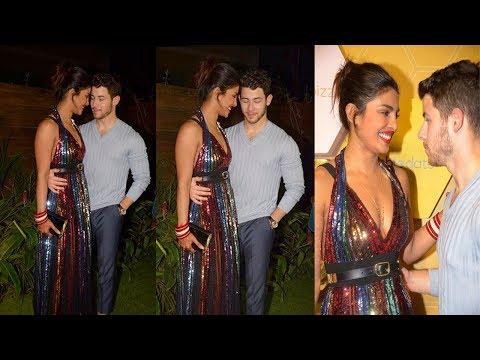 Newly Wed Couple Priyanka Chopra & Nick Jonas Cant Stop Loving eachother At Party in Mumbai