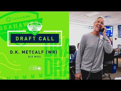 DK Metcalf Gets The Call from John Schneider & Pete Carroll | 2019 NFL Draft