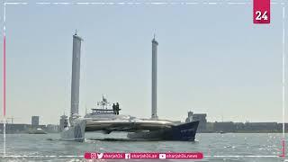 قارب هيدروجيني يبحر إلى أمستردام لاختبار شراعين موفرين للطاقة