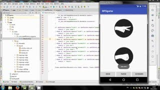 Develop Rock Paper Scissors game in Android Studio