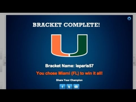 NCAA Basketball 2013 - Filling Out My March Madness Bracket Challenge