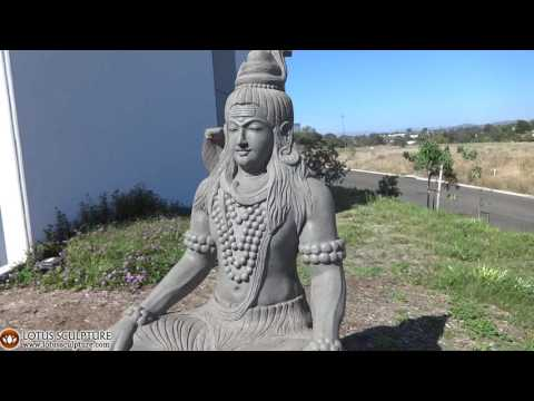 SOLD Stone Large Meditating Shiva Sculpture 59