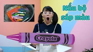 Nấu Bộ Sáp Màu Để Làm Cây Bút Sáp Khổng Lồ Tặng Anh Hai - Giant Crayon