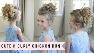 Cute & Curly Chignon Bun