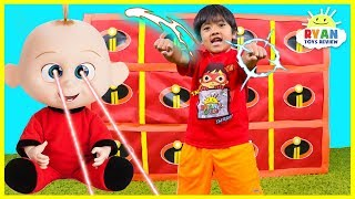 Giant Smash Surprise Incredibles 2 Toys with Jack Jack vs Ryan!!!