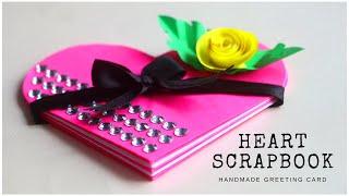 Mini Heart Scrapbook Greeting Card | DIY Valentines Day Cards Idea
