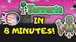 ALL OF TERRARIA IN 8 MINS! Terraria Progression Guide! Step by Step Guide for Beginners 2020!