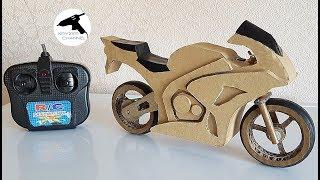Как сделать мотоцикл из картона на радиоуправлении?