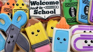 Back To School Cookie Tutorial - SIX Designs!