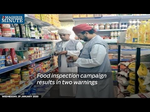 Food inspection campaign results in two warnings
