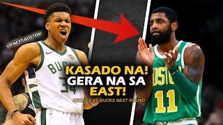 Heto Na Umpisa Na Ng Maganda Laban Sa East!! | Bucks Sweep Detroit! | Irving Vs Antetokounmpo Next!