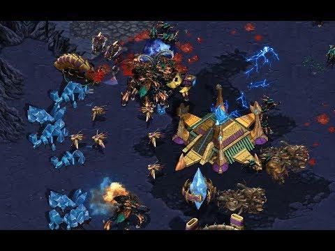 OctZerg (Z) v White-Ra (P) on Moon Glaive- StarCraft  - Brood War REMASTERED