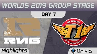 RNG vs SKT Highlights Worlds 2019 Main Event Group Stage Royal Never Give Up vs SK Telecom T1 by Oni