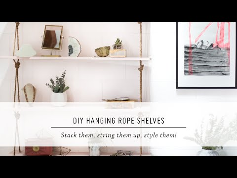 DIY Hanging Rope Shelves | Furniture & Interior Design Tutorial | Mr Kate Mp3