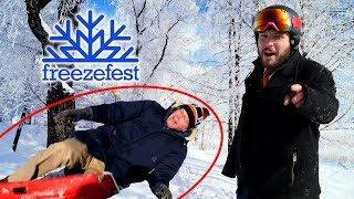 We Run A Winter Obstacle Course With RIT's President! - Freezefest 2018