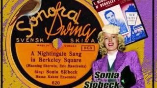 A nightingale sang in Berkeley square - Sonia Sjöbeck (english lyrics) 1943