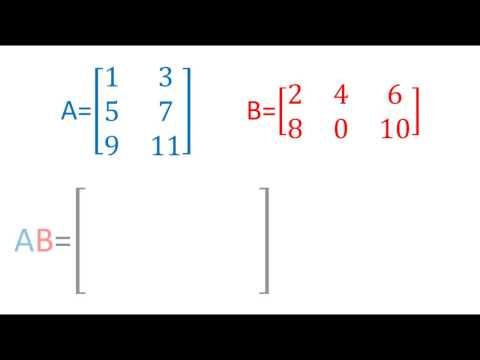 Producto de  matrices 2x3 y 3x2   Álgebra lineal