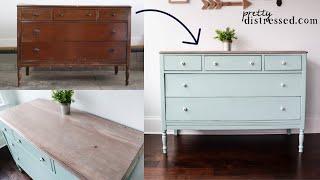 Dresser Makeover W/ Dixie Belle Chalk Paint & Stain