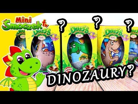DINOZAURY Jajka Niespodzianki Zabawki Bajki Dla Dzieci Po Polsku