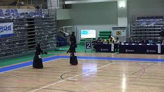 2019 대통령기 검도대회 여자부 8강 정서현 vs 유연서 [검도V] kendoV