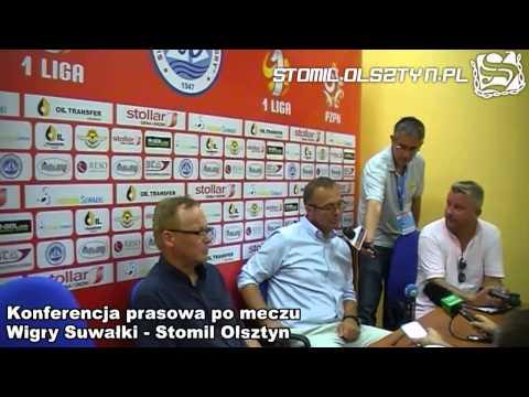 Konferencja prasowa po meczu Wigry Suwałki - Stomil Olsztyn