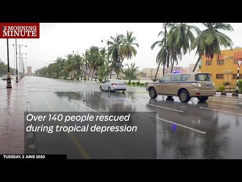 Over 140 people rescued during tropical depression