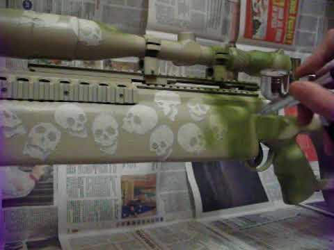 Il painting del TAC-308 Full Skull