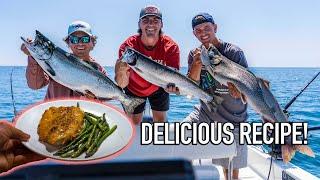 Lake Michigan SALMON Fishing! Catch Clean Cook