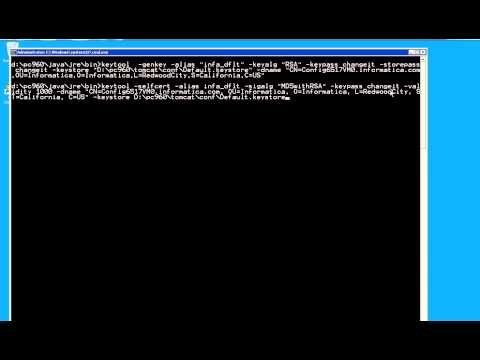 How to enable https in PowerCenter Administrator Console - YouTube