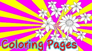 Free Flowers Coloring Pages For Kids Coloring Games - Flowers Coloring Book