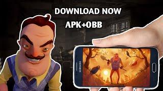 hello neighbor android apk obb