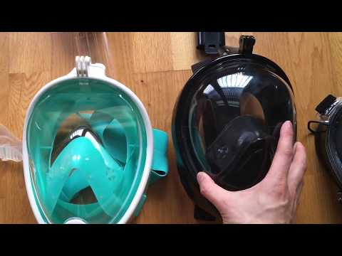 Best 2018 full face snorkel mask, now with pressure equaliser