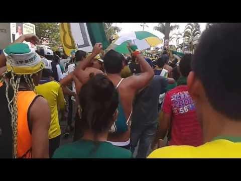 """""""Artillería Verde Sur En El Cumpleaños # 63 Del Atlético Quindio"""" Barra: Artillería Verde Sur • Club: Deportes Quindío"""