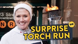 Die besten 100 Videos Olympische Fackel Prank - Surprise Torch Run