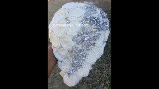 DIY Cascade Waterfall Brooch Bouquet  L NETTI L Easy Wedding Project