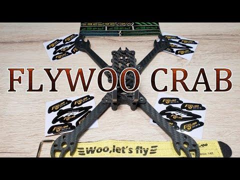 ✔ Новая FPV Рама FLYWOO CRAB 220mm 5 inch, 87g ! Banggood