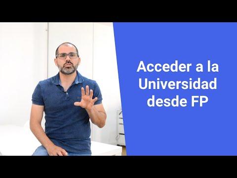 Acceder a la Universidad desde FP de Grado Superior