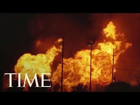 Massive Gas Line Fire Near Detroit Causes Evacuations: Flames Shoot Dozens Of Feet High | TIME