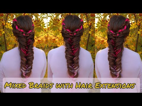 Fishtail Braid Combo with Kanekalon Hair Extensions | Easy Hairstyles